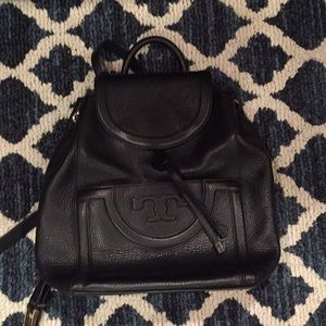Authentic Tory Burch all leather backpack!
